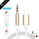 cable aux. del 1m para el adaptador más de Gato de los auriculares de Apple I7/iPhone7/iPhone 7 que se enciende hasta la cuerda de Cabel del auricular del varón de 3.5m m para el coche