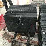 Mattonelle del granito del nero scuro con superficie Polished, fiammeggiata e spazzolata