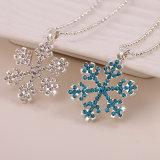 De Juwelen van de Halsband van de Tegenhanger van de Sweater van de Sneeuwvlok van de Diamant van het Kristal van de manier