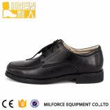 Schwarze stilvolle Norm-preiswerte Militäroffizier-Schuhe