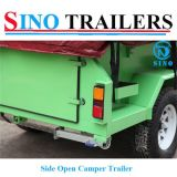 Acero inoxidable Open Side Camper Remolque
