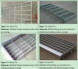 Pisadas de escalera Grating de acero galvanizadas enes baño caliente para las escalas de paso de progresión (Técnico-Tamiz T10 del T1 del Técnico-Tamiz)