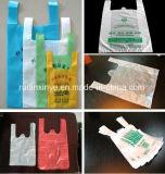 2017機械価格を作る熱い販売のプラスチックショッピングTシャツ袋