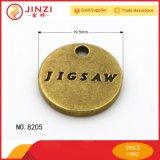 旧式な真鍮カラーのHangbagの金属の札をカスタマイズしなさい