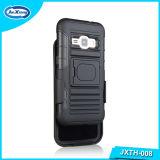Caja combinada del teléfono de Kickstand de la pistolera de la armadura de la PC de TPU para la galaxia J1 2016 de Samsung