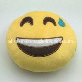 Palier mou jaune d'Emoji de jouet de peluche d'émotion de gosses