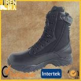 Schwarze echtes Leder-preiswerte Preis-Militärpolizei-Schuhe für Männer
