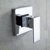 Les tarauds de mélangeur de Bath de salle de bains de support de mur de chrome ont fixé la douche fixe par robinet simple de douche de traitement fixe par toilettes simples de chrome de robinet de douche de traitement de tête de douche de précipitations
