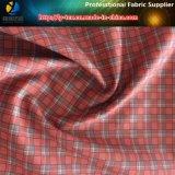 Tessuto di tessile stampato assegno della gabardine del poliestere per le camice del Workwear