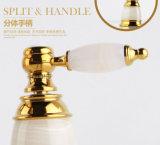 2016 Nuevo Diseño manija del doble de mezclador del lavabo ZF-702 Jade Tres-Agujero