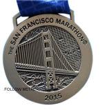 Die Marathon-Medaille Sam-Francisco. Doppelte Seiten, EBB