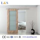 Portão de madeira de porta de madeira de níquel de cetim acetinado amarelo (LS-SDG-611)