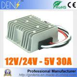 30A waterdichte gelijkstroom 8-36V 12V 24V aan 5V 150W van de LEIDENE van de Auto van gelijkstroom de Module van de Bok van de Convertor van het Voltage Levering van de Macht