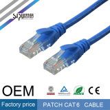 Cable de la venta al por mayor CAT6 de la cuerda de corrección de Sipu RoHS CAT6 UTP para la comunicación