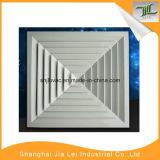 Diffuseur carré d'air de couleur de voie blanche de l'aluminium 4