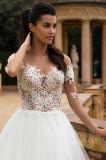Deily passen Entwerfer-Spitzenspitze eine Zeile Hochzeits-Kleid an
