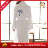 Katoenen van de Vacht van het koraal de Goedkope Niet-geweven Badjas van de Kimono