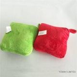 개 견면 벨벳 장난감을 소리가 나는 크리스마스 애완 동물 부속품 사각에 의하여 채워지는 베개