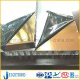Panneau de nid d'abeilles d'acier inoxydable de la couleur 304/316 d'or avec la surface gravante en relief