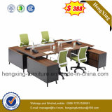 Estação de trabalho reta da pessoa da mobília de escritório 4 do certificado com gabinete (HX-6D087)