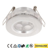 fuego ahuecado IP23 Downlight clasificado del techo BS476 LED del aluminio de 3W LED