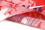 4377 Tela de poliéster de impressão de pêssego escovado para praia curta