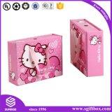 Rectángulo de papel del regalo de Pcakaging de la ropa del reloj de Prefume del gatito