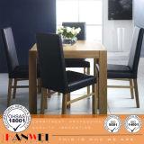 Juego de comedor de roble mesa y una silla de madera para muebles