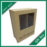 Contenitore di regalo di carta rigido con il nastro e la finestra del PVC
