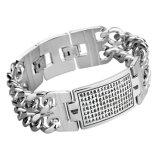 Configuration découpée par bracelets inoxidables punks gothiques d'identification de bijou de type