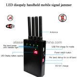 Jammer móvel Handheld do sinal da capacidade da bateria do indicador de diodo emissor de luz de 4 faixas