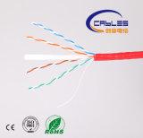 23AWG/4p UTP CAT6 LAN-Kabel-blank kupferner Plattfisch Passed100m