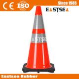 Orange/gelber Kalk-Grün flexibler Belüftung-Verkehrssicherheit-Verkehrs-Kegel