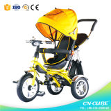 Triciclo del bambino del bambino con la barra di spinta