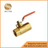 Vávula de bola de cobre amarillo industrial de cobre amarillo de 2 maneras
