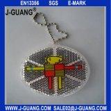 Отражательные вися бирки с Keyring металла (JG-T-02)