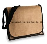 昇進の学生かばんの自然なジュートのバーラップの肩のメッセンジャー袋