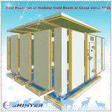 Pequeño sitio de conservación en cámara frigorífica para los vehículos