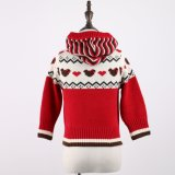 Girls' Sweater Top in Jacquard Design and Acrylic Quality Handfeel Soft