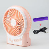 Beweglicher aufladenusb-Miniventilator mit dem Wind mit 3 Stufen beschleunigen-Orange