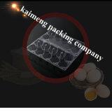 Bandeja plástica disponible transparente Malasia del huevo del PVC para el pollo