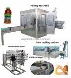Máquina completa de embalagem de enchimento de bebidas de garrafa de plástico auto 4in1 para fruta de polpa