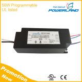 Driver programmabile elencato dell'UL 50W 1400mA LED con l'attenuazione di 0-10V/PWM /Rset /Clock