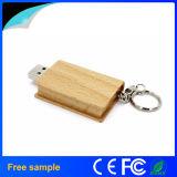 Azionamento di legno naturale dell'istantaneo del USB di figura del libro (Jv1390)