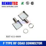 Connecteur femelle coaxial de rf F avec l'armature