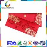 Прямоугольные симпатичные карточки приглашений венчания с красным украшением диаманта
