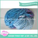 Fio Extravagante Tricotando Manualmente Eco-Friendly do Algodão de Lãs de Matéria Têxtil