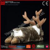 Het Rendier van de Dier Gevulde van de Kariboe van de Pluche van Chirstmas van het Stuk speelgoed van de Herten Zachte Kerstman van het Stuk speelgoed