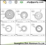 Radiateur en aluminium d'extrusion de profil de tube de cercle