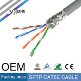 Sipu 4pairs interior del cable de LAN FTP Cat5e red de comunicación
